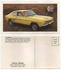 1960-70s Ford Capri 2600 V6 CAR DEALER ADVERTISING FACTORY POSTCARD