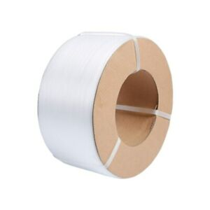 4000m Reel Machine Pallet Banding Strapping Seal 9mm x 0.55mm White Tape Strip