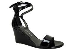 Stuart Weitzman Women's Backdraft Wedge Sandals Black Patent Size 5 M