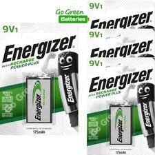 4 x Energizer 9V PP3 Block 175 mAh Rechargeable Batteries HR22 6LR61 HR9V DC1604