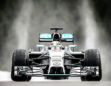 Lewis Hamilton Mercedes Petronas Formula 1 One F1 Race Car Rain Souvenir Photo