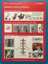 NORWEGIAN AIR SAFETY CARD --787-800