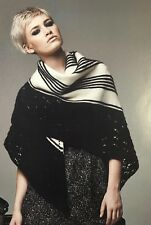 KNITTING PATTERN Ladies Lace Patterned Shawl Pointed Edging Bead Rooster PATTERN
