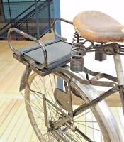 Antique Bicycle Rear Rack - Danger is my middle name!