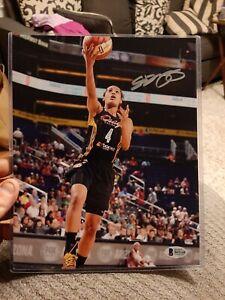 Skylar Diggins Signed 8x10 Photo Autographed COA Beckett BAS   Dallas Wing