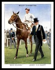 Wills Racehorses & Jockeys 1938 - Bois Roussel - EC Elliott No. 3