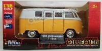 VOLKSWAGEN VW T1 BUS (YELLOW) 1:38 WELLY DIECAST MODEL CARS  **NEW IN BOX**