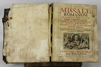 LC-007. MISSEL ROMAIN. PIO V. EDIT. NICOLAUM PEZZANA. 1729.
