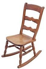 Antique late Victorian / Edwardian elm beech rocking chair rustic charm