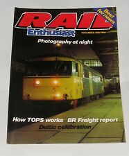 RAIL ENTHUSIAST NOVEMBER 1982 - HOW TOPS WORKS/BR FREIGHT REPORT