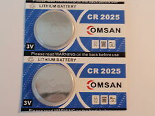 Two - New-Lithium Battery-3V-cr2025 - Fast Shipping