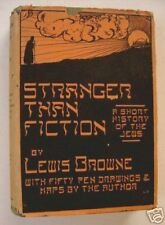 STRANGER THAN FICTION – HISTORY OF THE JEWS Browne 1943