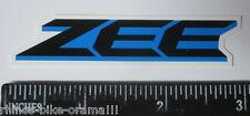 "3"" ZEE BLUE Shimano Frame Mountain Fork Shox Parts MTB Bike Race DECAL STICKER"