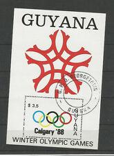 GUYANA BLOCK ZUR WINTEROLYMPIADE 1988 IN CALGARY