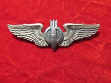 WW 2 Bombardier wing Sterling Gaunt pin back  3 inch