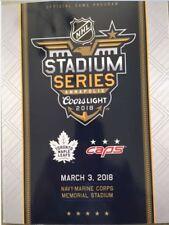 2018 STADIUM SERIES GAME PROGRAM NHL TORONTO MAPLE LEAFS VS. WASHINGTON CAPITALS
