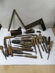 Antique Wood Working Job Lot