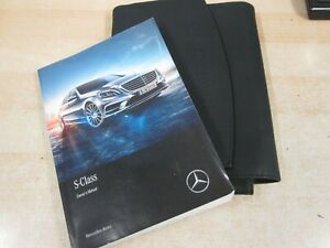 MERCEDES S  CLASS OWNERS MANUAL HANDBOOK 2014-2017 inc wallet our ref R93