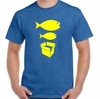Big Fish Piccolo Cartone Scatola T-Shirt Uomo Divertente Danza Acid House FAC5