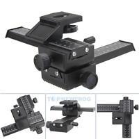 Pro Version 4 Way Macro Shot Focusing Rail Slider for DSLR Camera Canon Nikon