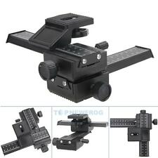 PRO 4way Macro Rail Slider Shot Focusing Focus For DSLR Camera Nikon Canon EOS