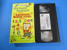 Richard Scarry's VHS 30 Minutes Best Learning Songs Video Ever!