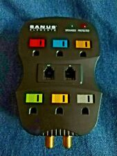 Sanus Elements ELM201-B1 6 Outlet Surge Protector Cable Phone Electric Tested