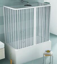 Box parete vasca sopravasca 3 lati,cm70x160/170x70 riducibile, apertura centrale