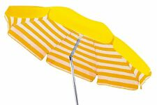 Maffei ombrellone palo centrale giallo/riga cotone d.200 cm made in Italy 181A
