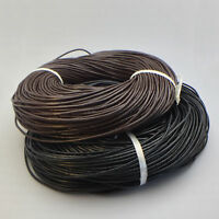 1M 10M New Genuine Leather Cord Thread for Diy Bracelet Necklace Jewelry Making