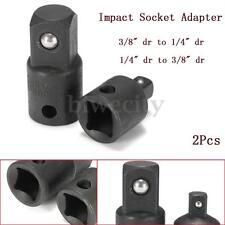"2Pcs Air Impact Ratchet Socket Adapter Converter Vanadium 3/8"" To 1/4"" Drive Set"