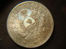 1882  AU  BU Argentina Peso Silver Very Nice  Coin