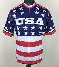 NEW World Jerseys USA Team 1979 Cycling Jersey Men's Size XL Retro Bike Shirt