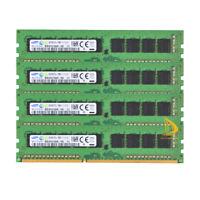 32 GB SAMSUNG 4PCS 8GB DDR3-1600MHz PC3L-12800E ECC UDIMM RAM M391B1G73BH0-YK0 @