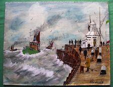 Dutch Pier Gorleston : Oil Painting : Peter J Hadden : Give Fine Art