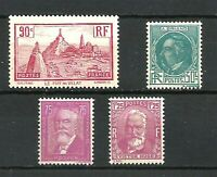 FRANCE ANNEE COMPLETE 1933, N° 290/293 Neufs**. Cote 147€