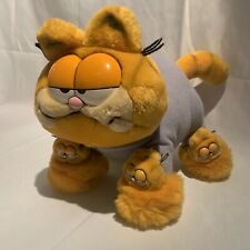 Vintage Garfield Plush Dakin 1978 1981 Pajama Garfield W/ Garfield Slippers 15""