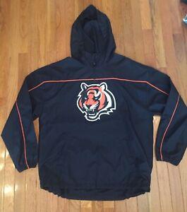 Awesome Vintage Reebok NFL Cincinnati Bengals Windbreaker Jacket - Adult Medium