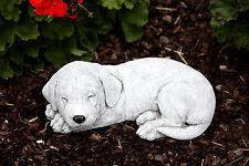 SCULPTURE EN PIERRE CHIEN CHIOT LABRADOR figurine de jardin résistant au gel