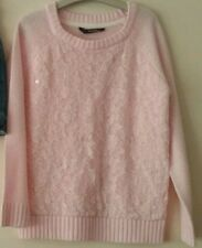 asda George 8 pink sequin lace jumper christmas