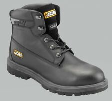 "Safety Boots Shoes Mens JCB Black 6"" Boot, PROTECT/B, Black Size UK 12"
