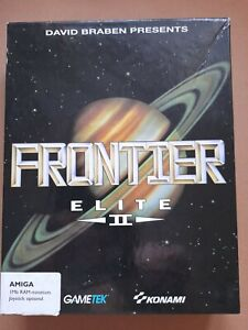 FRONTIER ELITE II for COMMODORE AMIGA, COMPLETE WITH BOOKS AND MAPS, 2 DISKS.