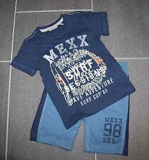 Cooles 2-tlg. Set T-Shirt Surfer Motiv + blaue Sweat Shorts in Gr. 92 von Mexx