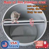 Stainless steel Mice Rats Mouse killer Trap log Grasp Bucket Spinning Roller