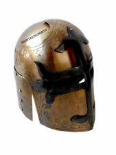Medieval Knight Armor Crusader Helmet Brass Antique Finish  M15