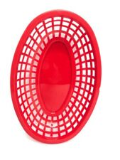 """24pcs Fast Food Serving Baskets For Restaurant Red Oval Tablecraft 9.5 x 6 x 2 """""""
