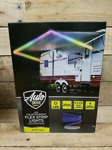 Auto Drive LED Color Changing Flex Strip Lights 18.4 Feet RV Camper Outdoors