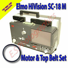 ELMO HiVision SC-18 M 8mm Cine Projector Drive Belt Set of 2