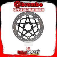 2-78B40870 COPPIA DISCHI FRENO ANTERIORE BREMBO LAVERDA GHOST 1997- 650CC FLOTTA