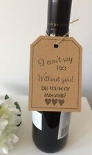 "4 Handmade ""Will You Be My Bridesmaid"" Kraft Tag"